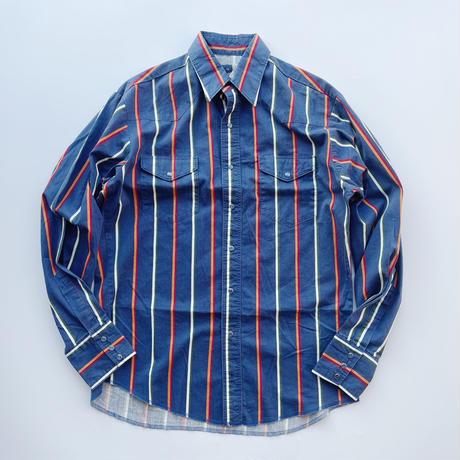 80's Wrangler stripe western shirt / 80年代 ラングラー ストライプウエスタンシャツ