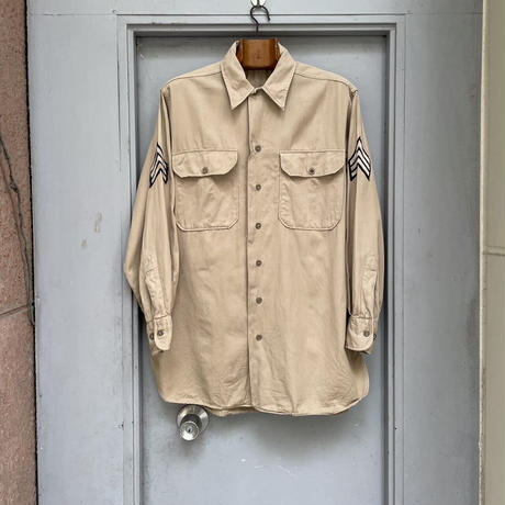 """OLD COTTON OFFICER SHIRT """"U.S.MILITARY""""[15768]"""