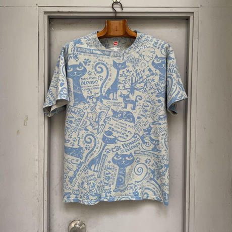 ALL-OVER PATTERN PRINT T-SHIRT[15765]