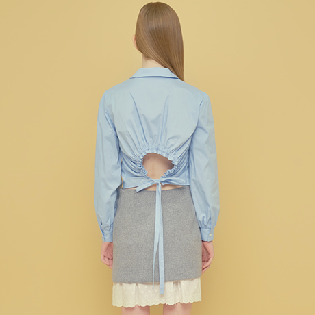 「Margarin fingers」open back blouse