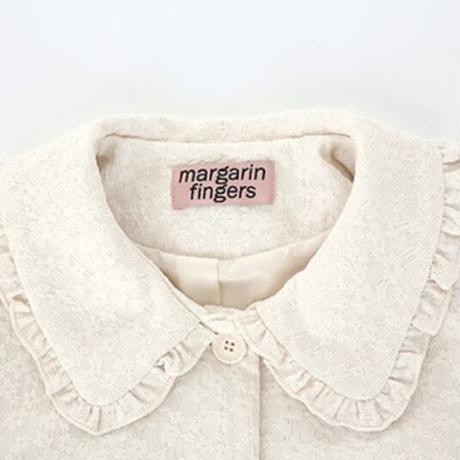 margarin fingers / jacquard frill jacket