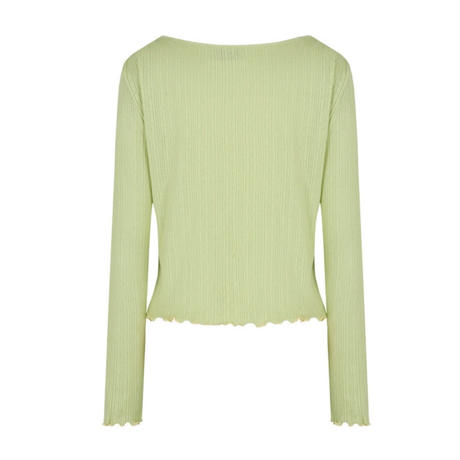 margarin fingers / one button cardigan / green
