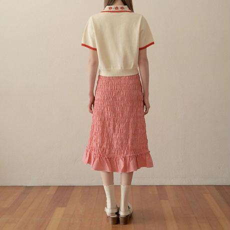 margarin fingers / smocking long skirt