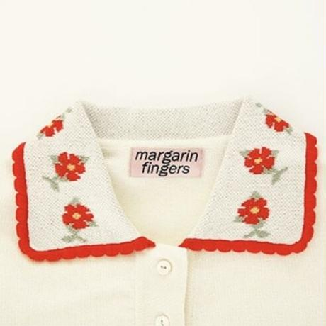 margarin fingers / flower  pique knit