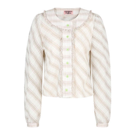 margarin fingers / round frill blouse