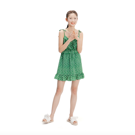 margarin fingers / daisy one-piece green