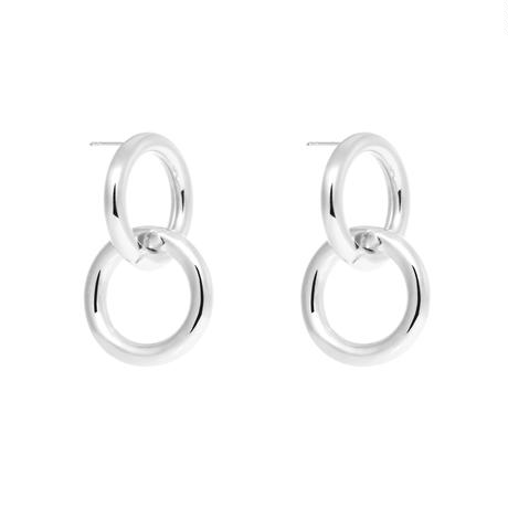 NUMBERING / Double Link Earrings