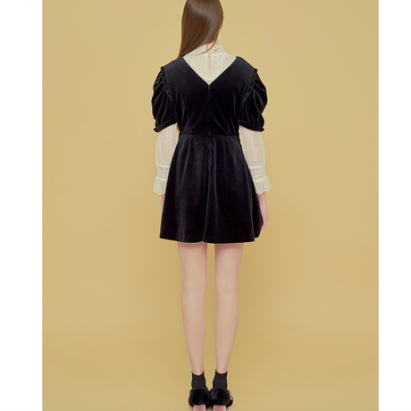 「Margarin fingers」cross Frill one piece