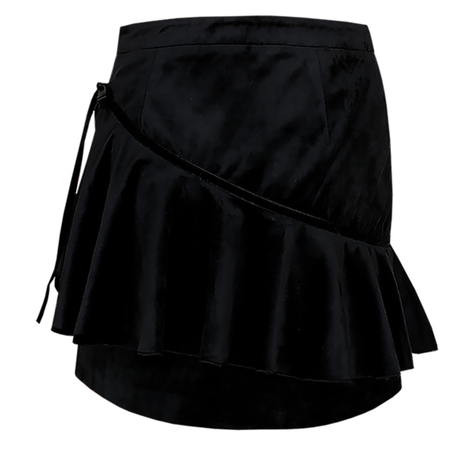 「Margarin fingers」velvet ribbon skirt