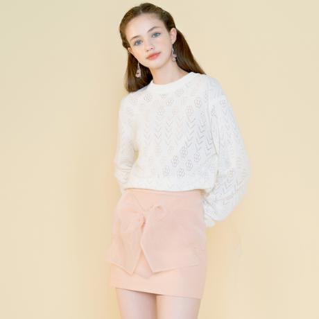 margarin fingers / bow mini skirt