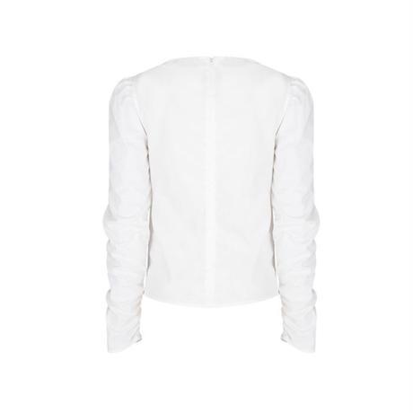 margarin fingers / ribbon cotton blouse
