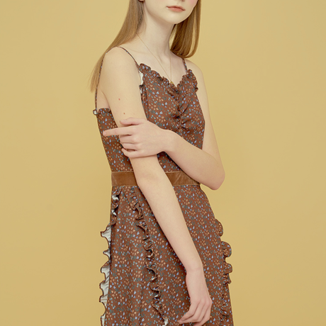 「Margarin fingers」floral slip dress
