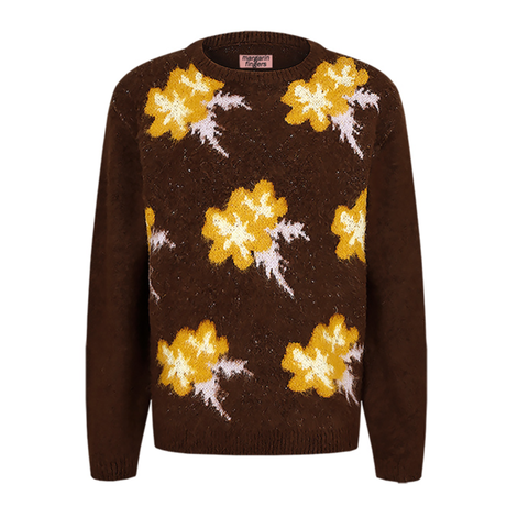 「Margarin fingers」flower jacquard knit