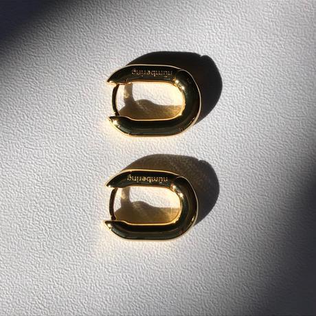 NUMBERING / Unbalanced Drop Chain Earrings