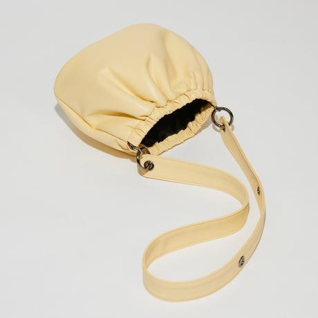 SAMO ONDOH / egg bag S lamb skin(lemon)