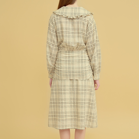 「Margarin fingers」big collar ribbon dress