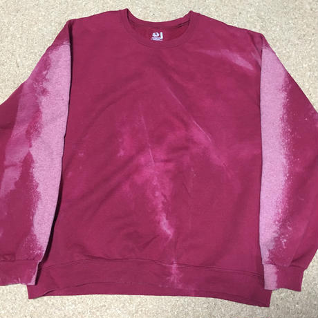 oversized sweat shirt bleach custom