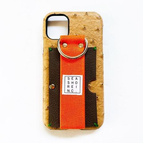 for iPhone【 ostrich 】beige × orange
