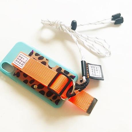 for iPhone【 animal 】turquoise × neon orange