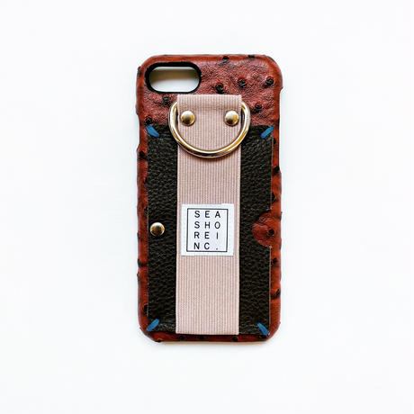 for iPhone【 ostrich 】brown × moca