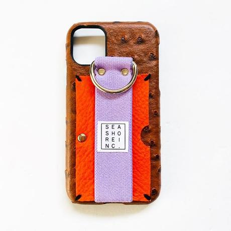 for iPhone【 ostrich 】brown × lavender