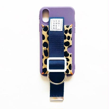 for iPhone【 animal 】purple × navy