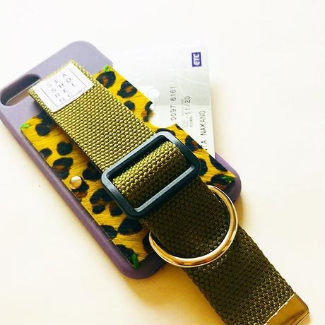 for iPhone【 animal 】purple × khaki