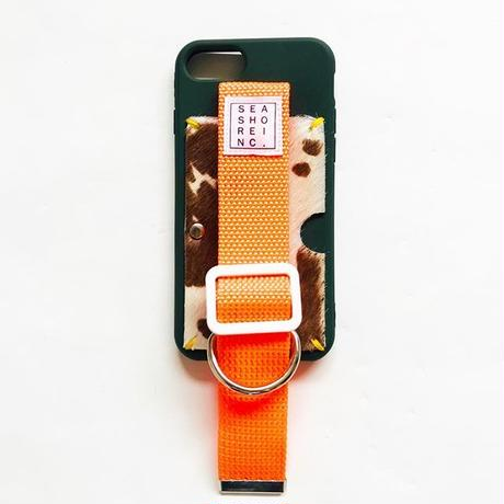 for iPhone【 animal 】green × orange