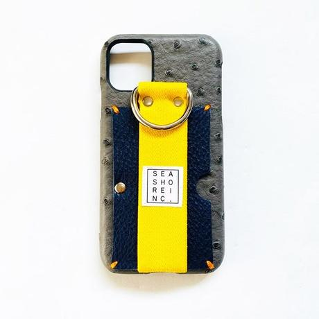 for iPhone【 ostrich 】gray × yellow