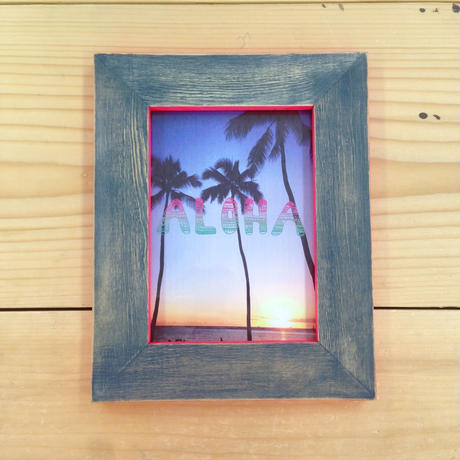 [ Full handmade ] postcard size NAVY × NEON PINK