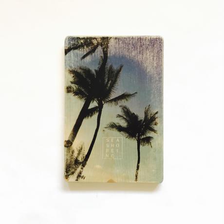 wood plate : palm2