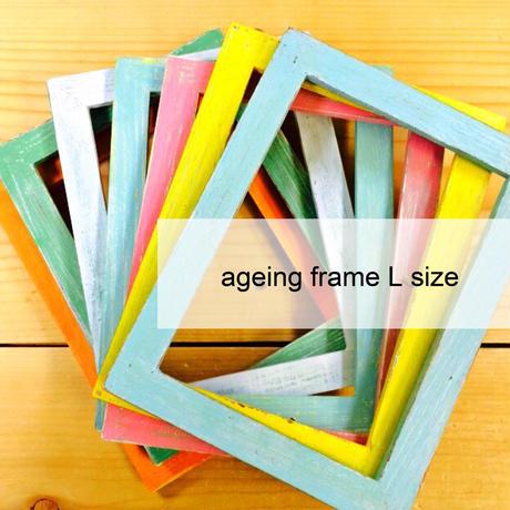 ageing WHITE frame [L size]