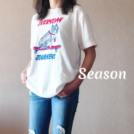 SS新作★ユニセックス Tシャツ★ナノテック 両面パイル EVERY DAY TEETシャツ /WHITE