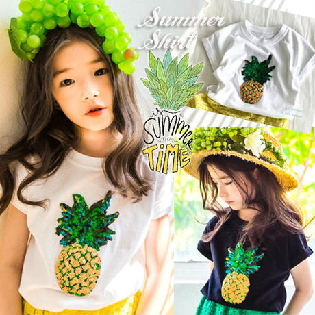 ▷◁ PineappleSpangle Tシャツ♪2カラー▷◁