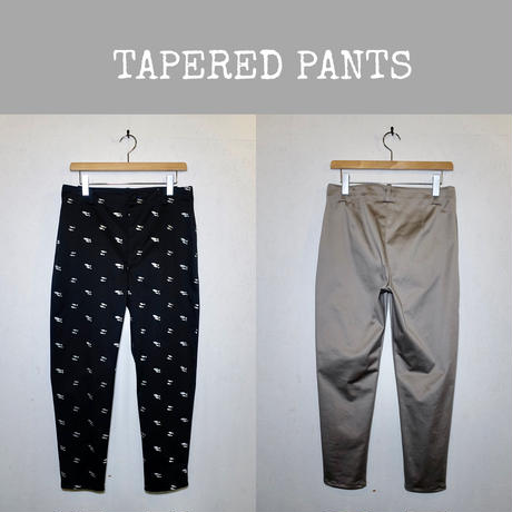 STRETCH COTTON  TAPERED PANTS