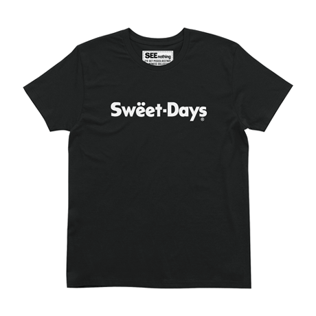 SWEET DAYS Tee - BLACK