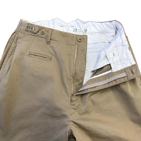 Cotton Twill Side-tuck Trousers