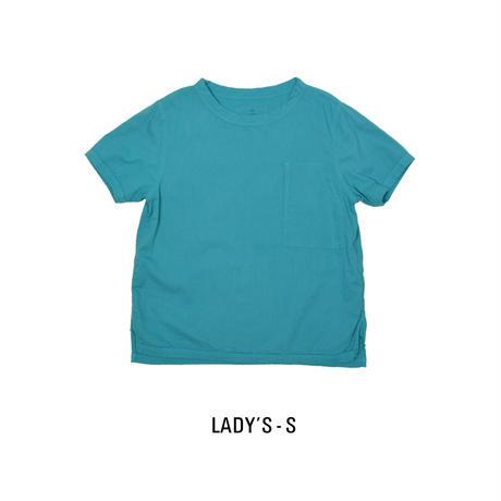 Gauze Lady'sShort Sleeve Pocket T-Shirt