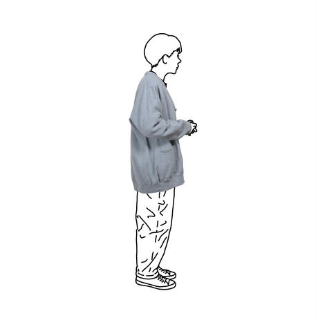 WOOL GAUZE LONG CARDIGAN / M
