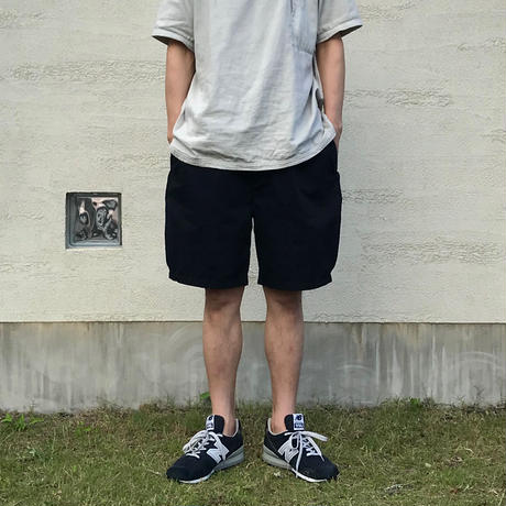 Cotton Twill Side-tuck Short Pants