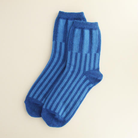 "靴下 ""itchy feet"" -Blue"