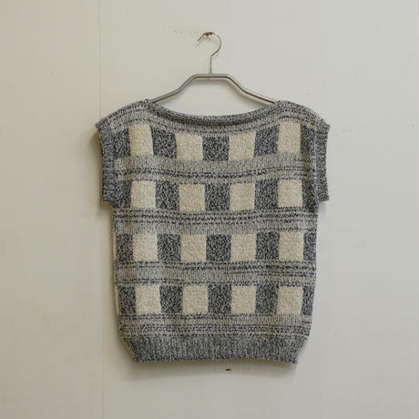 Knitted Tee -Navy