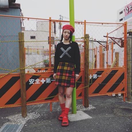 """靴下 """"Apple Pie"""" -Red(つま先 green)"""