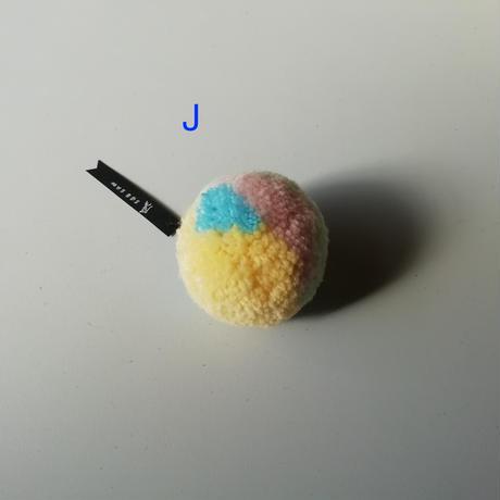 pompom brooch (ブローチ)F-J