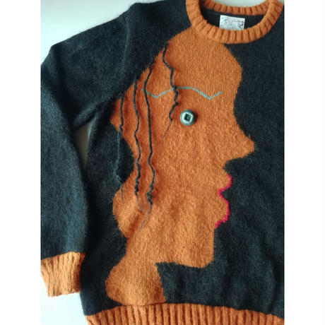 Face (顔のセーター)  大きいサイズ