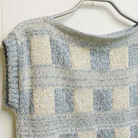 Knitted Tee -Sky