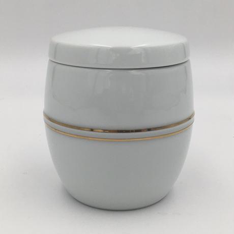 白磁金彩棗形ミニ寿壺 有田焼花伝造