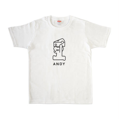 T-SHIRT - ANDY & CHEESE / White