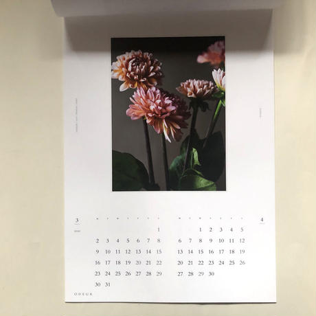 ODEUR 2020 OEUVRE & text, SELECTED FLOWER CALENDAR