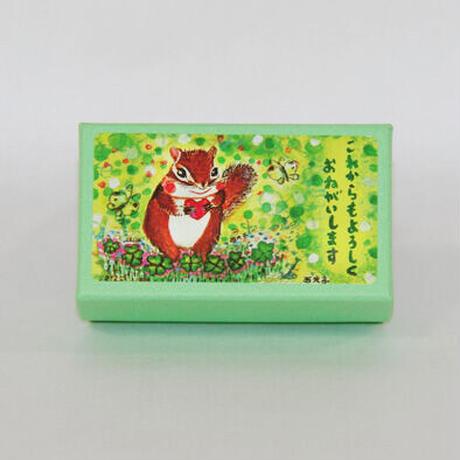 小箱10個セット・緑の中(これからもよろしくおねがいします) チョコくるみクッキー